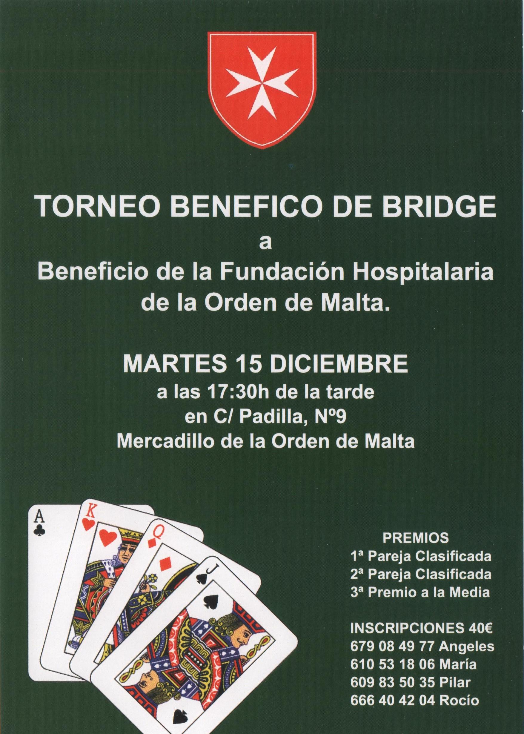Torneo Bridge Orden de Malta 2015